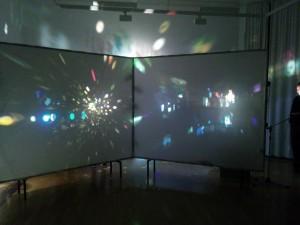 Licht und Klangperformance zur Eröffnung der Film Musik Festspiele 2014 in Bad Ems